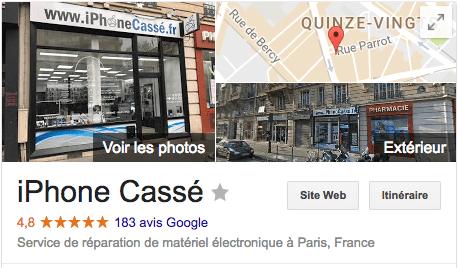 iPhoneCassé.fr - Gare de Lyon - Avis Google