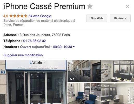 Centre de réparation - Bonne nouvelle - iPhoneCassé.fr - Avis google